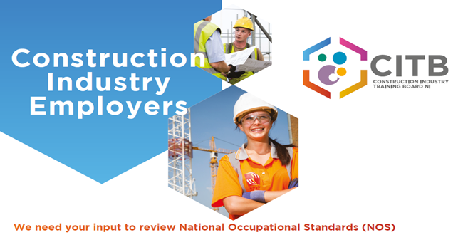 Construction Industry Employers:  We need your input to review National Occupational Standards (NOS)